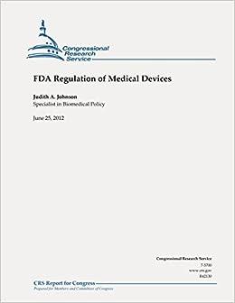 Book FDA Regulation of Medical Devices