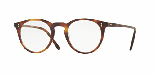 Oliver Peoples - O'Malley - 5183 45 - Eyeglasses (SEMI MATTE DARK MAHOGANY, - O Malley Peoples Oliver