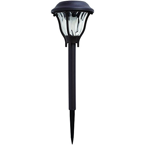 Hampton Bay Solar Bronze Outdoor Integrated LED Landscape Path Light with Water Patterned Lens (6-Pack)