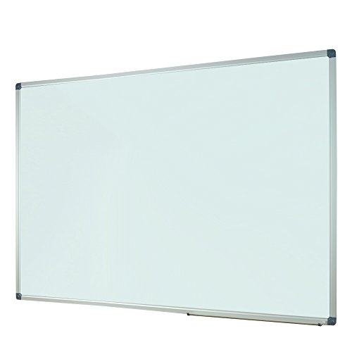 Lockways Magnetic Dry Erase White board - 60 X 40 Inch , Whiteboard Sliver Aluminium Frame U10314161726 For Office & School by Lockways