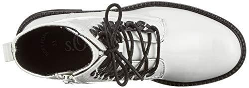 Patent oliver white 5 21 123 25241 Bianco Combat Stivali 5 S 123 Donna UHOqwW6Zw