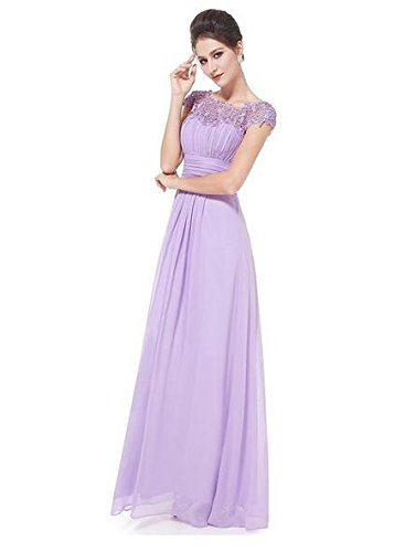 Long Evening Sleeves Sequins Chiffon Botong Purple Lace Light Dress Prom Mother Gown Cap 4IEqxS