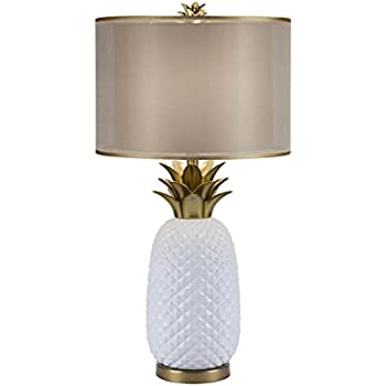 Amazon catalina lighting 20114 001 3 way ceramic pineapple catalina lighting 20114 001 3 way ceramic pineapple table lamp with gold accents and aloadofball Choice Image