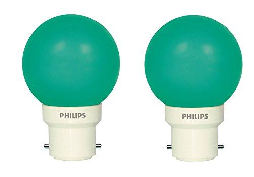 Philips Deco Mini 0.5-Watt B22 Base LED Bulb (Green and Pack of 2)