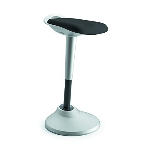 to Stand Backless Stool for Office Desk, Black (HVLPERCH) (Contour Upholstered Stools)