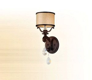 - Corbett Lighting 86-61 Roma - One Light Wall Sconce, Classic Bronze Finish with Cream Ice Glass with Clear Crystal