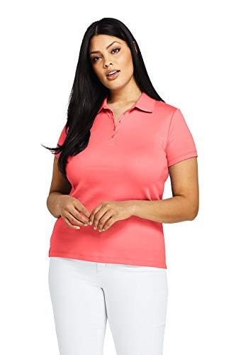 - Lands' End Women's Plus Size Supima Cotton Polo Shirt Short Sleeve, 2X, Coral Fusion