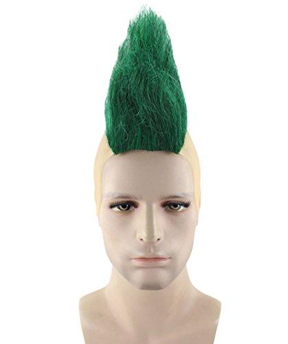 Mohawk Adult Wig - Mohawk Wig, Green Adult HM-322A