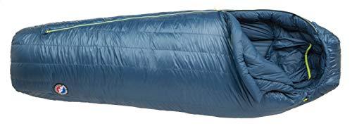 Big Agnes Blackburn UL 0 (850 DownTek) Sleeping Bag, Long, Right Zip, Blue
