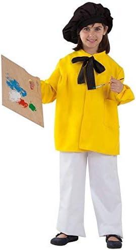 DISBACANAL Disfraz Pintor Picasso Infantil - Amarillo, 10 años ...