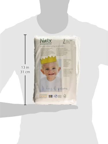 Eco by Naty Babycare 6-13 lbs//3-6kg Eco Nappies Size 2 34 Nappies