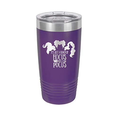 It's Just A Bunch of Hocus Pocus - Engraved Tumbler Wine Mug Cup Unique Funny Birthday Gift Graduation Gifts for Women Halloween costume pumpkins halloweentown (20 Ring, PRP) -