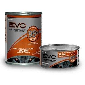 EVO 95-Percent Chicken & Turkey Dog Food 13.2 oz Can (12 per Pack), One Size