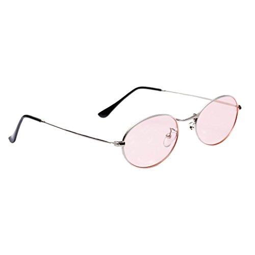 Rosa Vintage 50 Hombre Astilla UV400 de Plano Dolity Mujer mm blanca Unisex Metal Accesorios Espejo Gafas wZgHW4Aqp