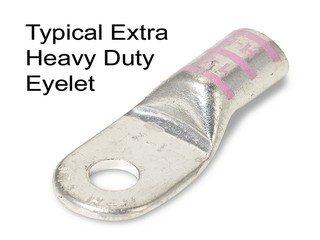 4Ga 5/16 Stud Tinned Copper Eyelet Heavy Duty Gray Code-10Pack