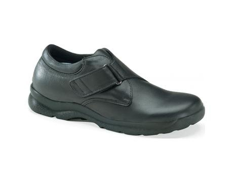 Ariya Casual Walker - Aetrex Men's Y600 Ariya Casual Walker Single Strap Velcro Shoes - Black 7 D(M) US