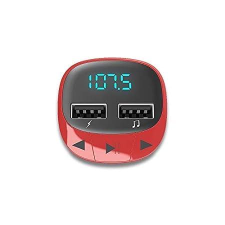 microSD, USB Charge, USB MP3 Energy Sistem Car Transmitter FM Red