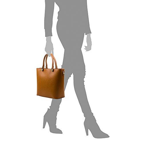 Sac Made en Véritable sac Cuir ITALY Couleur in cm luxe cuir femme à Vera pelle ROUGE Safiano ARTEGIANI FONCÉ FIRENZE cuir italiana main de 36x29x15 authentique en wCqZZX
