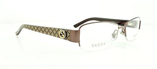 Gucci GG2903 Eyeglasses-0QUV Brown Burgundy-53mm