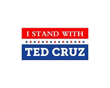 Car Magnet I Stand With Ted Cruz Bumper Sticker Trm 281
