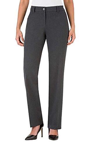 Hilary Radley Women's Slim Leg, Dress Pant Charcoal (12)
