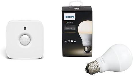 Philips 464602 Hue Motion Sensor & PHILIPS Hue White A19 Single Bulb