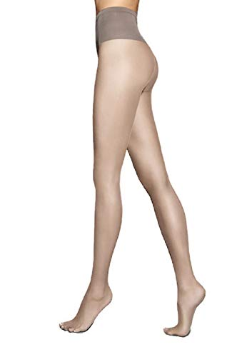 Marilyn Silky Soft Exclusive Luxe European Pantyhose 15 Denier Comfort Top (S/M, Grey) ()