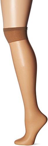 (Berkshire Women's Plus-Size Queen Ultra Sheer Knee High Pantyhose-Sandalfoot, Tan De Sol, 10-13)