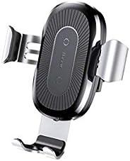 Carregador Veicular sem Fio por Indução e Suporte Gravity, Baseus, WXYL-0S, Prata