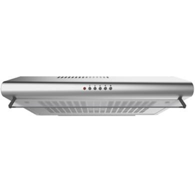electriQ 60cm Stainless Steel Top or Rear Venting Conventional Visor Hood with Glass Front -5 Years Parts and 2 Years Labour
