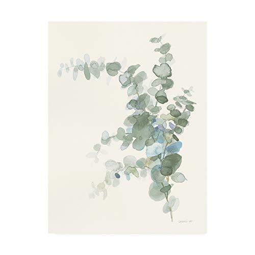 Trademark Fine Art Scented Sprig III Cool by Danhui NAI, 14x19, (Seafoam Green Wall Decor)