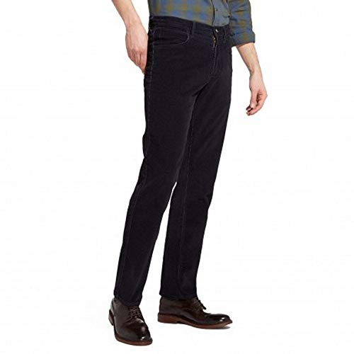 - Wrangler Mens Arizona Navy Stretch Corduroy Regular Fit Straight Leg Jeans, BNWT (30W x 34L, Navy)
