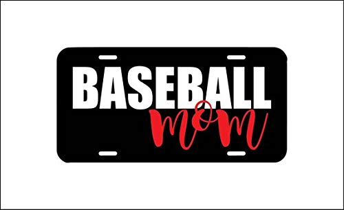 Jesspad Baseball Mom License Plate, Ball Field MomVanity Plate Tag, Car Tag, Baseball Diamond, Baseball Player Team, Mom Auto Car License Plate Frames for Women ()