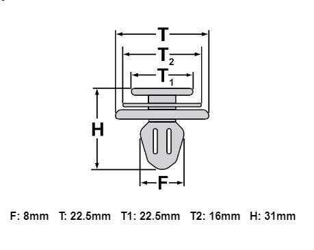 10x Druckclips f/ür Innenverkleidung Klammern 7L6868243 8679426 clips