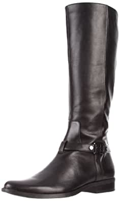 Calvin Klein Women's Tristan Calf Boot,Black,5 M US