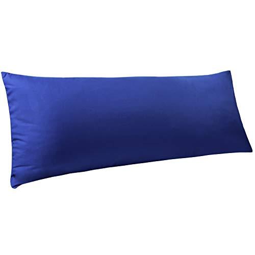 NTBAYBodyPillowCover,Pillowcases,100%BrushedMicrofiber,SoftandCozy,EnvelopeClosure,forAdultsPregnantWomen,20″ x54″, Royal Blue