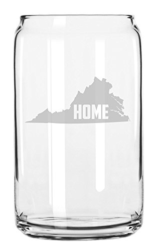 State of Virginia Home State Etched Can Glass - Glasses Richmond