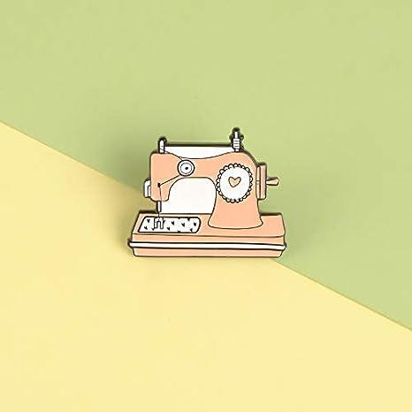QISKAII Dibujos Animados Naranja máquina de Coser esmaltes ...
