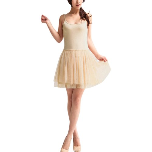 Little Hand Women's Spaghetti Slim Modal Lace Tutu Dress Sundress
