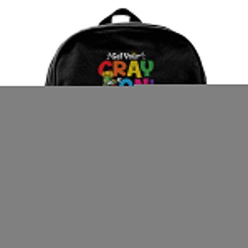 Male Blcak Backpack Casual Book Bag Get Your Cray On 100Th Day Of School]()
