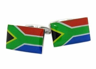 South Africa Flag Cufflinks by Cufflinks For Men