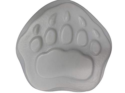 Bear Paw Footprint Stepping Stone Concrete or Plaster Mold 1184 ()
