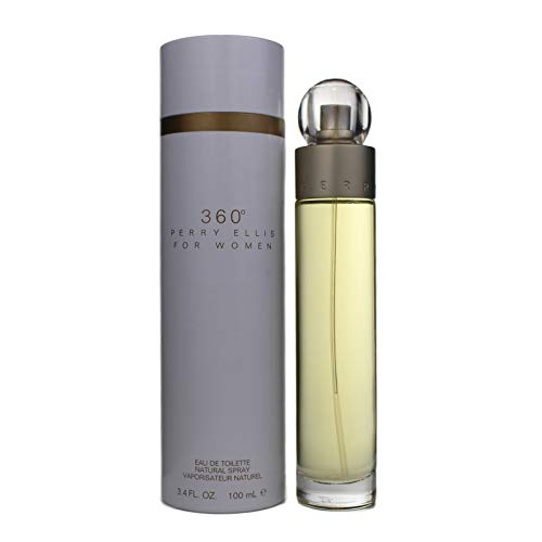 Perry Ellis 360 Eau De Toilette Spray 3.4 Oz/ 100 Ml for Women By 3.4 Fl Oz , white