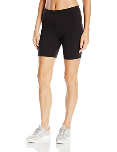 Hanes Women's Stretch Jersey Bike Short, Black, Medium