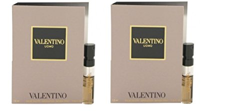 2 x VALENTINO UOMO by Valentino 0.05 oz / 1.5 ML EDT New In (0.05 Ounce Edt)