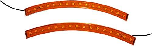 Fender Tip Light - Custom Dynamics Amber Long BRIGHTSIDES LED Lights SPYBRIGHTSIDEAS