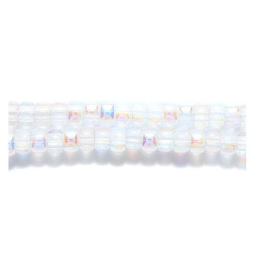 Preciosa Ornela Traditional Czech Glass Crow Roller 120-Piece Beads, 6mm, Crystal Aurora Borealis Finish ()