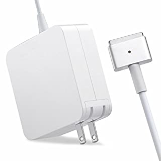 """QIANXIANG MacBook Pro charger, AC 60W Magsafe2 T-Tip Power Adapter Charger for MacBook Pro 13.3"""" Retail Package A1425 A1435 A1465 A1502 (Made After Late 2012)"""