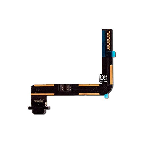 Charging Port Flex Cable for Apple iPad Air, iPad 5, and iPad 6 (2018)- Black (A1474, A1475, A1822, A1823, A1893, A1954) by Group Vertical