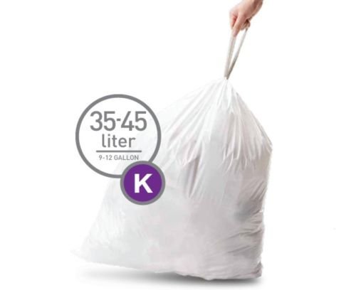 (Simplehuman Bin Trash Can Bags Liners New 35-45l Litres Size K Pack of 20)